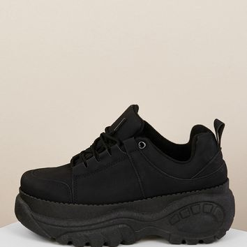 Lace Up Chunky Sole Dad Sneakers