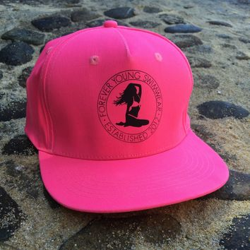 Hat - Classic Flat Bill - Snap Back - Pink