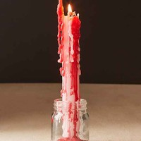 Red Color Drip Candle Set