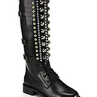 Rene Caovilla - Embellished Knee-High Leather Boots - Saks Fifth Avenue Mobile