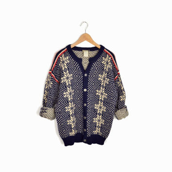 Vintage Norwegian Wool Snowflake Sweater by L.L. Bean - men's medium