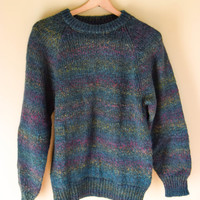 Men's Vintage Soft Wool Sweater Mult-Colored by Benetton