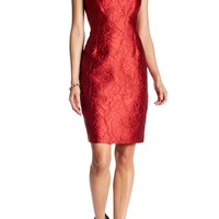 Carmen Marc Valvo | Floral Brocade Sheath Dress | HauteLook