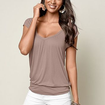 Relaxed V-Neck Top | VENUS