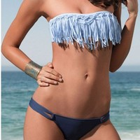 Fashionable Tassel Beach Swimsuit