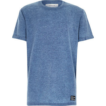 River Island Boys blue burnout t-shirt