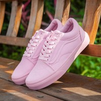 Sale Vans Old Skool Pink 50th Anniversary Commemorative Section Sneakers Casual Shoes-1