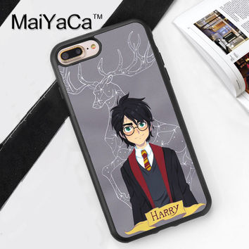 Harry Potter Style Soft TPU Case for iPhone 7 7Plus for iPhone 6 6S Plus 5 5S 5C SE 4S Soft Rubber Phone Back Cover