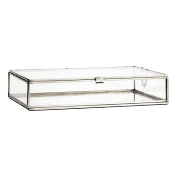 H&M Large Clear Glass Box $24.99
