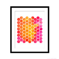 ABSTRACT HONEYCOMB PRINT