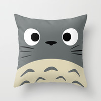 Curiously Troll ~ My Neighbor Troll Throw Pillow by Canis Picta