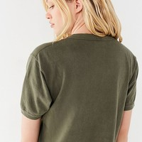 Vintage European Cropped Ringer Tee   Urban Outfitters