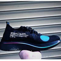 AUGUU OFF-WHITE x Nike ZooAO2115-001 Fly Mercurial FK OW Causal Running Shoes Black
