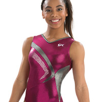 Starlit Sangria V Neck Leotard from GK Elite