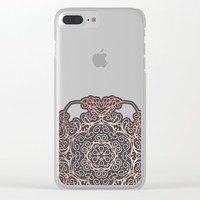 Rose Gold & Grey Mandala Clear iPhone Case by Tanyadraws