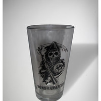 Sons of Anarchy Logo Pint Glass