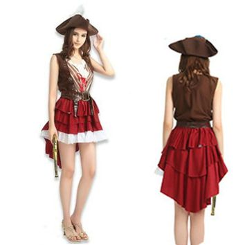 Cool Halloween costume women Female Cosplay Pirates of the Caribbean Costumes Women Outfit Carnival Family DressAT_93_12