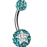 Shining Star Sparkling Belly Button Ring