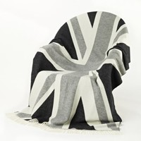 NEW! Grey Union Jack Throw  |  Cushions & Throws  |  Accessories  |  French Bedroom Company