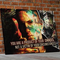 You Are A Product Of Your Choices, Eminem Art, Abstract Canvas Wall Art Motivational Quote