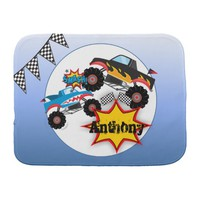 Monster Truck Baby Boy Burp Cloth