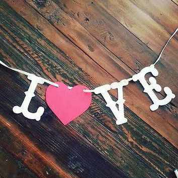 Love Banner Valentine's Day,Wedding,Save the Date Banner Photo Prop