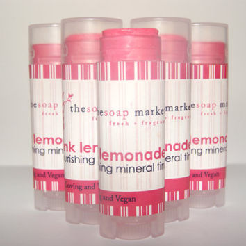 Lip Balms Lip Tint Skin Care Makeup Cosmetics Vegan Natural Pink Lemonade Christmas Stocking Stuffers