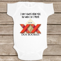 FUNNY BABY Onesuit 'DOS BOOBIES' CUTE BABY STUFF BABY CLOTHES CUSTOM BABY CLOTHES