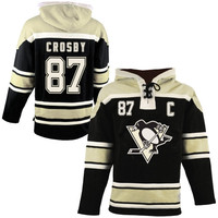 Sidney Crosby Pittsburgh Penguins Old Time Hockey Sawyer Heavyweight Hoodie - Black