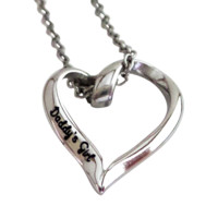 """Daddy's Girl Stainless Steel Heart Charm Necklace, 20mm Charm, 16"""" Chain"""