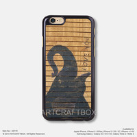 Elephant on wood Free Shipping iPhone 6 6Plus case iPhone 5s case iPhone 5C case 115
