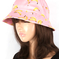 Enjoy the sun with this delightfully appropriate bucket hat featuring everyone favorite summertime treat, the Banana print throughout.