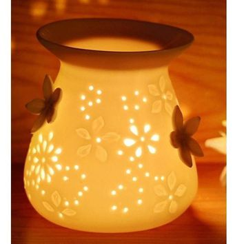 Flower Fragrance Oil Burner