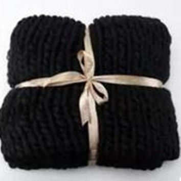 60*60cm Knitted Blanket, Anti-Pilling Super Soft - !SALE! - $15 off!  Priced as marked