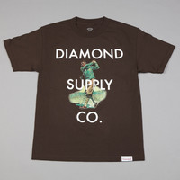 Flatspot - Diamond Golf T Shirt Chocolate