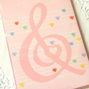 Vintage Hallmark Note Cards. Music Note. Cards With Envelopes. Stationery Set. Letter Writing. Pink Stationery. Heart Stationery. Pink Cards