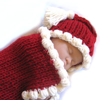 Baby Santa Cocoon & Hat - Fast & Easy pattern on Craftsy.com