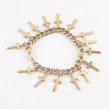 Chain Cross Bracelet