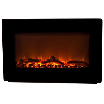 Fire Sense Wall Mounted Electric Fireplace - Black (#60757)