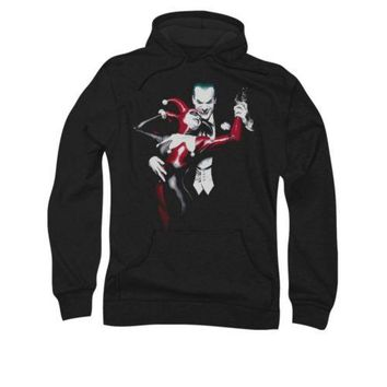 Harley Quinn The Joker Batman Arkham City Adult Pullover Hoodie
