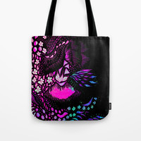 Hidden Face Tote Bag by ES Creative Designs