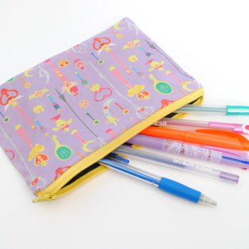 Sailor Moon Pencil/Cosmetic Zipper Bag by radtastical on Etsy