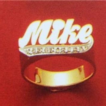 14k gold overlay  any Name Rings letters personalized jewelry/gifts/a10