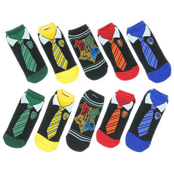 Fashion Painting Art Women Cotton Socks Harry Potter Cosplay Halloween Tie Pattern Hip Hop Harajuku Calcetines Fun idea Socks