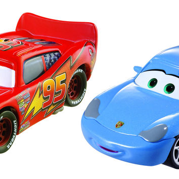 Disney Pixar Cars Movie Moments 2 pack Sally with Cone Lightning Mcqueen