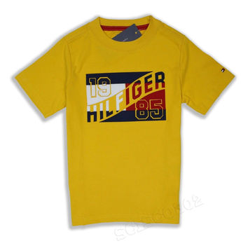Tommy Hilfiger T-Shirt Short Sleeve Yellow Graphic Tee
