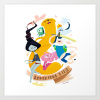 Adventure Time Art Print by LaPendeja