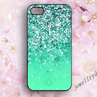 Mint Sparkle Glitter iPhone 5/5s Case,Glitter iPhone 5c Case,Sparkle 4/4s case,Glitter Sparkle samsung galaxy s3 s4 s5 cover,Sparkle iPhone