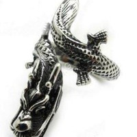 Chinese Dragon Stainless Steel Ring