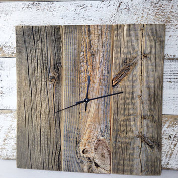 Natural Barn Wood Wall Clock